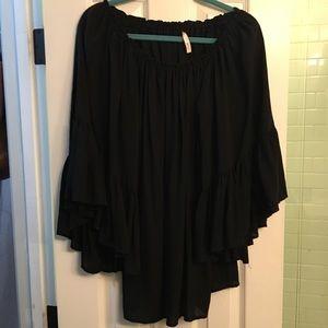 Elan one size off shoulder slouchy dress